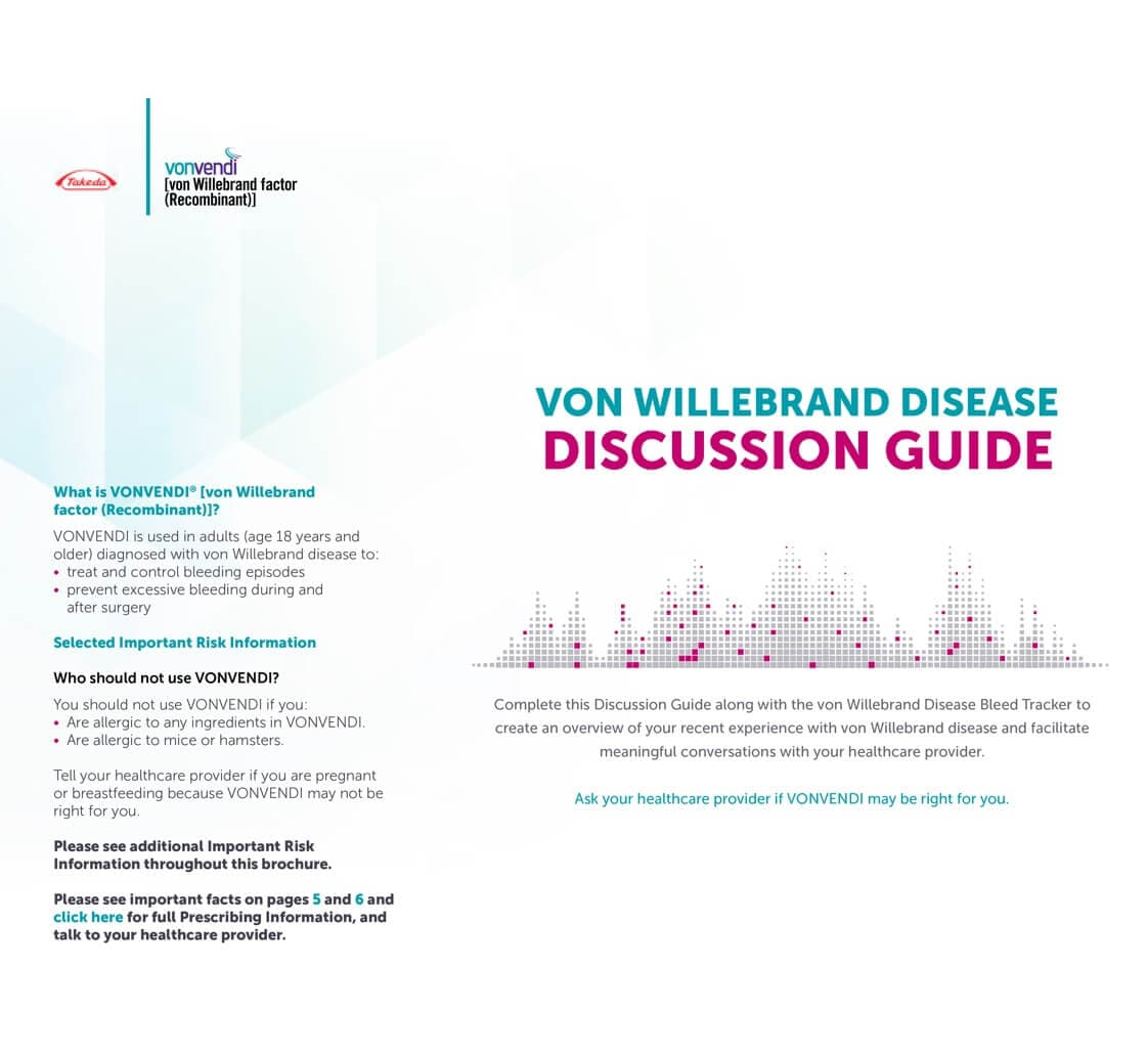 Von Willebrand disease discussion guide.